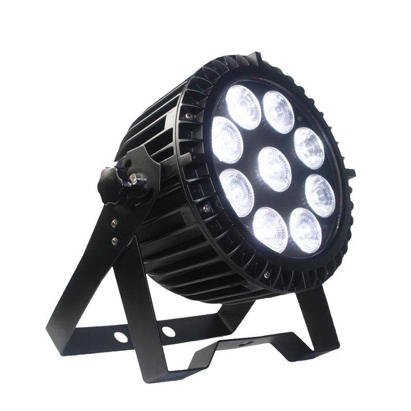 9PCS 8W RGBW 4in1 Waterproof Flat Par Can