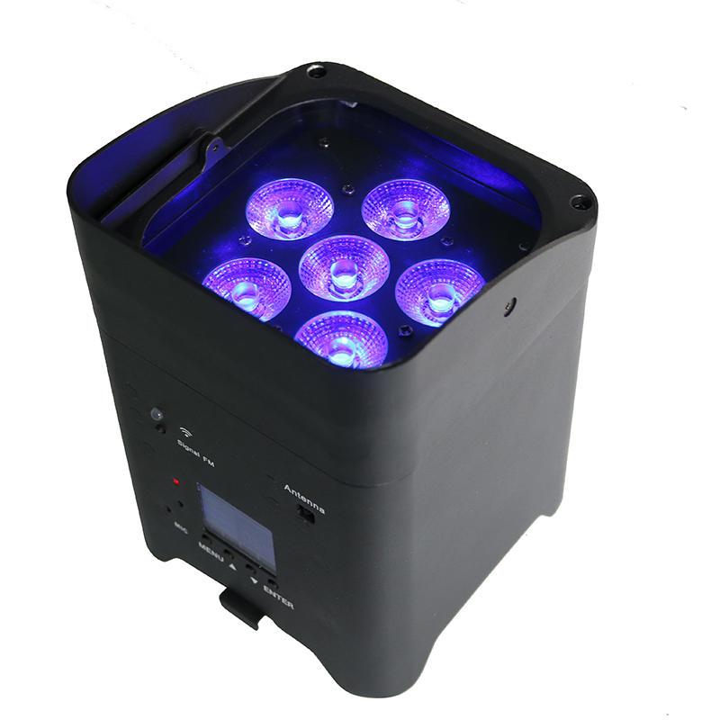 6PCS RGBWA/UV LED Wireless Battery Powered Uplights